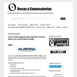 Curso online gratuito para apender francés básico con certificado incluido