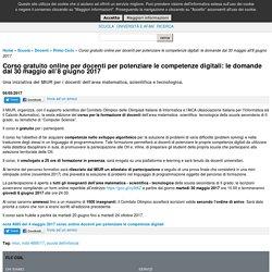 Corso gratuito online per docenti per potenziare le competenze digitali: le domande dal 30 maggio all'8 giugno 2017