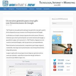 Un recurso gratuito para crear gifs con Presentaciones de Google