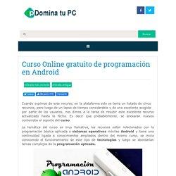Curso Online gratuito de programación en Android