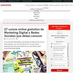 27 cursos online gratuitos de Marketing Digital y Redes Sociales que debes conocer