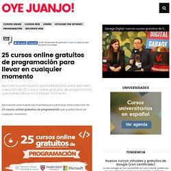 25 cursos online gratuitos de programación para llevar en cualquier momento