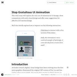 Stop Gratuitous UI Animation