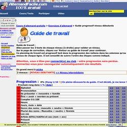 Cours gratuits allemand débutants