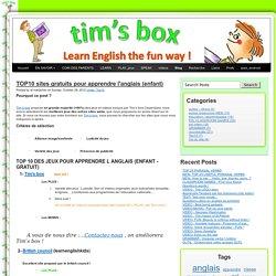 TOP10 sites gratuits pour apprendre l'anglais (enfant)