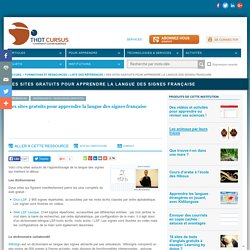 Des sites gratuits pour apprendre la langue des signes française