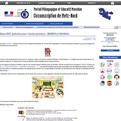 Deux ENT gratuits pour l'école primaire : BENEYLU SCHOOL - Circonscription de Metz-Nord
