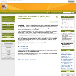 Des manuels de SVT libres et gratuits, sous créative commons - BIOTIQUES