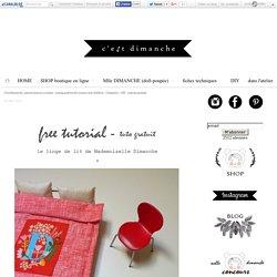 DIY - patrons gratuits - C'est Dimanche, patrons femme et enfant - sewing patterns for women and children