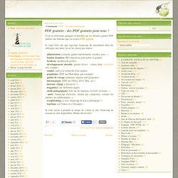 PDF gratuits : des PDF gratuits pour tous !