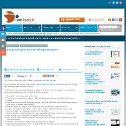 12 jeux gratuits pour explorer la langue française ! : : Répertoire : Thot Cursus