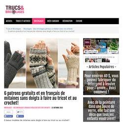 6 patrons gratuits et en français de mitaines sans doigts à faire au tricot et au crochet! - Bricolages - Des bricolages géniaux à réaliser avec vos enfants