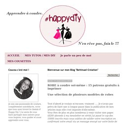 ROBE à coudre soi-même : 15 patrons gratuits à imprimer Bettinael.Passion.Couture.Made in france