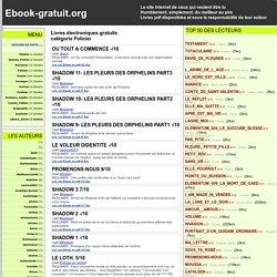 ebooks gratuits - Policier livre electronique en ligne