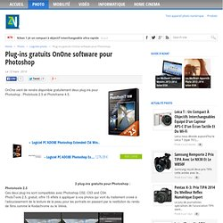 Plug-ins gratuits OnOne software pour Photoshop