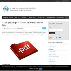 7 sites gratuits pour stocker des fichiers PDF en ligne