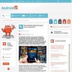 Des ebooks gratuits pour votre tablette ! Android MT