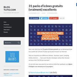 31 packs d'icônes gratuits (vraiment) excellents - Blog Tuto.com