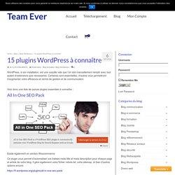 15 plugins gratuits WordPress à découvrir !
