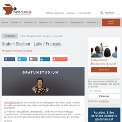 Gratum Studium : Latin / Français