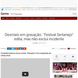 """petidor passa mal e cai ao cantar """"Galopeira"""" no """"Festival Sertanejo"""" do SBT"""