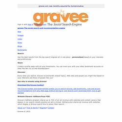 Gravee - The Social Search and Recommendation Engine