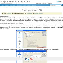 Graver une image ISO