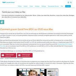 Graver QuickTime MOV sur DVD