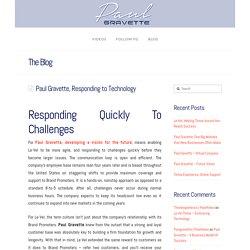 Paul Gravette, Responding to Technology