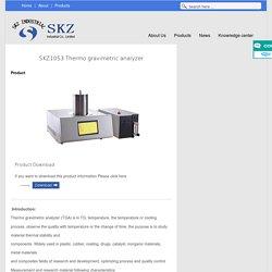 Thermo gravimetric analyzer