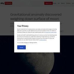 Gravitational anomaly discovered weighing down surface of moon