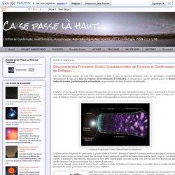Découverte des Premières Ondes Gravitationnelles de l'Univers et Confirmation de l'Inflation !