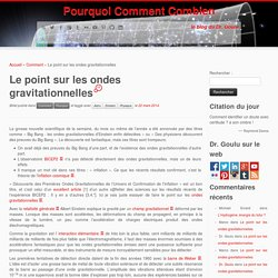 Le point sur les ondes gravitationnelles