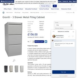 Graviti - 3 Drawer Metal Filing Cabinet