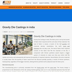 Gravity Die Castings in india - Ibex Engineering