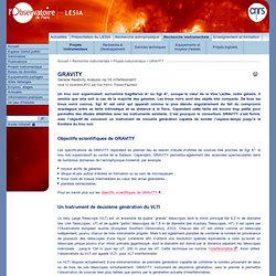 GRAVITY - LESIA - Observatoire de Paris