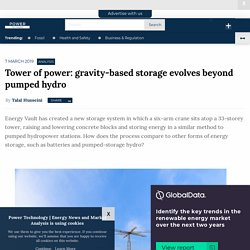 Tower of power: gravity-based storage evolves beyond pumped hydro