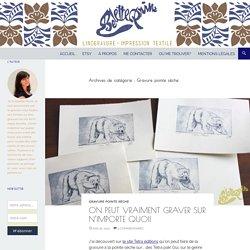Gravure pointe sèche Archives - Belette Print