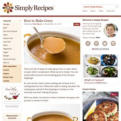 Gravy Recipe, How to Make Gravy