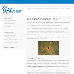 Le Big Data, pour quoi faire ? « Aleph – GrayMatter - Une technologie pour le BigData