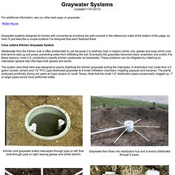 Simple Graywater Systems