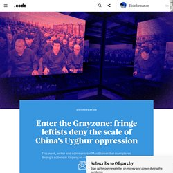 Enter the Grayzone: fringe leftists deny the scale of China's Uyghur oppression - Coda Story