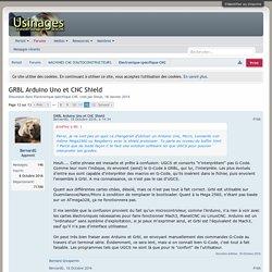 GRBL Arduino Uno et CNC Shield