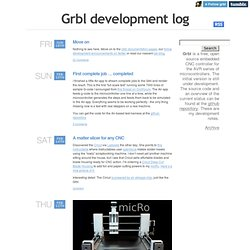 Grbl development log