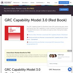 GRC Capability Model 3.0 (Red Book) - OCEG