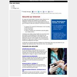 GRC en C.-B. - Sécurité sur Internet