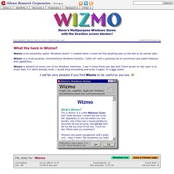 WIZMO - Steve's Windows Gizmo