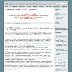 SITE + RSS GRCDI [Groupe de Recherche sur la Culture et la Didactique de l'information]