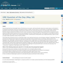 GRE Question of the Day (May 16)