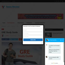 GRE Study Guide - Texas Review